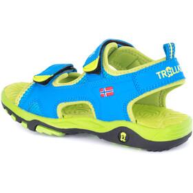 TROLLKIDS Orrestrand Sandals Kids medium blue/lime